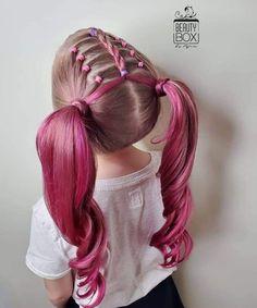 Easy Toddler Hairstyles, Cute Little Girl Hairstyles, Baby Girl Hairstyles, Kids Braided Hairstyles, Cute Hairstyles, Girl Hair Dos, Girls Braids, Kid Braids, Tree Braids