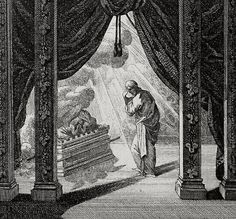 Phillip Medhurst Bible: The holy of holies. Exodus cap 40 vv 34-35. Schellenberg on Flickr. A print from the Phillip Medhurst Collection at St. George's Court, Kidderminster.