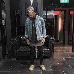 SXJ denim jacket street style |  Follow @FILET. for more street style #filetlondon