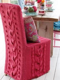 This stunning, cabled chair cover has been designed by Erika Knight using Amy Butler's Sweet Harmony.  Details:  Designer: Erika Knight  Project Type: Homeware  Project Subject: Knitting  Recommended Products: Sweet Harmony