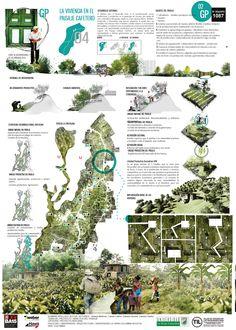 Landscape architecture presentation layout design 18 Ideas for 2019 Architecture Panel, Architecture Awards, Architecture Graphics, Architecture Portfolio, Modern Landscape Design, Landscape Architecture Design, Urban Landscape, Modern Architecture, Landscape Steps