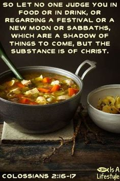 Colossians 2:16-17 facebook.com/donttakethemark