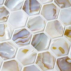 SomerTile 'Seashell Hexagon Natural' 12x12-inch Mosaic Tiles (Pack of 10) | Overstock.com Shopping - Big Discounts on Wall Tiles