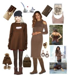 """""""bring me some chocolate"""" by courtenay-militaryveteran ❤ liked on Polyvore featuring Jitrois, Linda Richards, Stussy, UGG, Mansur Gavriel, Suzy Levian, K. Jordan, OLYMPIA Activewear, Nordstrom and Too Faced Cosmetics"""