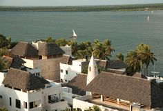 TANZANIA: Lamu Island. The view over the rooftops of Shela. Starting in the '90s the village became popular...