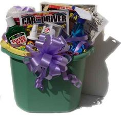 Car Wash gift basket - good selection of items- like the bucket idea