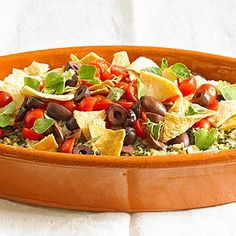 Lentils star in this protein-rich vegetarian casserole that contains all of your Mediterranean flavors, including oregano, feta, olives and tomatoes.