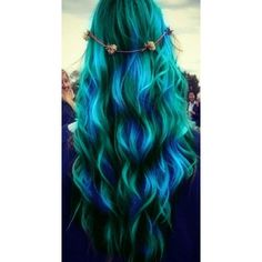 Results for green hair ❤ liked on Polyvore featuring hair, hairstyles, beauty, hair styles and makeup