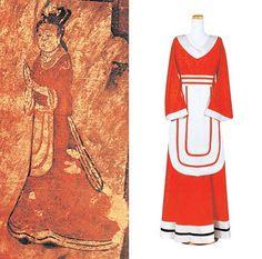 a tomb mural of Goguryeo(BC37-AD668) women's clothing #hanbok #Korea #goguryeo #고구려 #한복