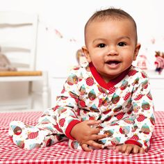 JoJo Funky Robin Baby Footie. Adorable footie with cheeky robin print.