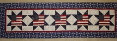 Flags in The Stars Table Runner Quilt Pattern July Year Two Americana Patriotic | eBay