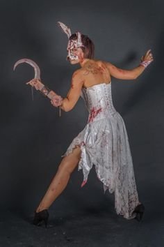Bioshock Splicer Cosplay by Valentina Neri Halloween Queen, Halloween Cosplay, Cosplay Costumes, Halloween Makeup, Halloween Ideas, Halloween Party, Kaneki, Splicer Cosplay, Bioshock Splicer