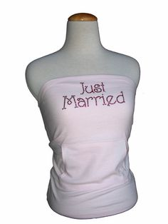 Rhinestone Strapless Tube Top for the Honeymoon - Wedding T-Shirts For The Entire Bridal Party