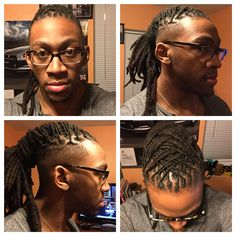 A cool take on a dreadlock ponytail undercut