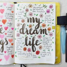 'Day 26 of #listersgottalist: my dream life' This is such a beautiful page. I am definitely going to create one of my own