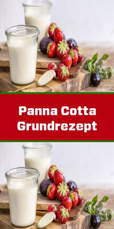 Finally - a basic recipe for panna cotta with milk! With this recipe you can make a creamy dessert! Dessert Sauces, Dessert Recipes, Kokos Panna Cotta, Tiramisu Dessert, Italian Desserts, Deserts, Pudding, Sweets, Snacks
