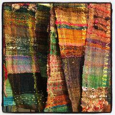 Handspun art yarn, limited edition hand dyed yarn, fiber art ecourses, sustainable spinning fiber by Asheville Fiber Artist Stacey Budge-Kamison