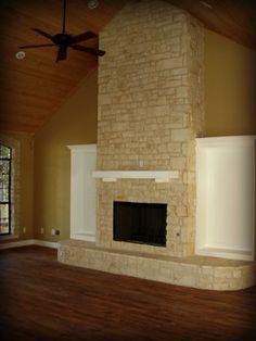 Austin stone interior barndominiom pinterest stone for Austin stone fireplace