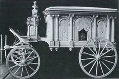 1906, this was most likely a children's hearse because only children's hearses were white during this time. Adult hearses were black or grey.