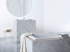 The new, specialised outlets are precision-synchronised for the 'Cleansing', 'Showering', 'Bathing' and 'Foot Bathing' zones, offering individual freedom of design: personal needs, individual spaces.