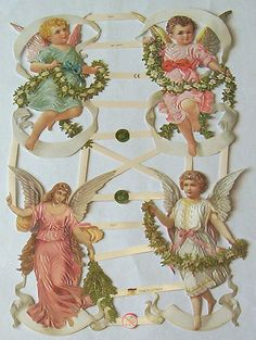 New German Victorian Christmas Easter Angel by TheWisdomTree