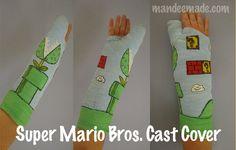 my new diy mario bros cast cover. Video Game Names, Super Mario Bros, Bones, Geek Stuff, It Cast, Crafty, Random, Awesome, Diy
