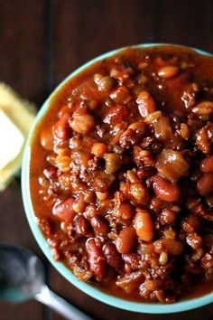 Crock Pot Cowboy Beans - per lb. (Meat or Meatless) Baked Bean Recipes, Bean Soup Recipes, Healthy Recipes, Beans Recipes, Healthy Meals, Crockpot Recipes, Yummy Recipes, Salad Recipes, Vegetarian Recipes