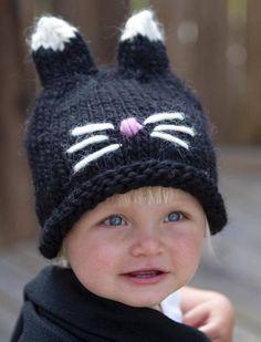 Knitting For Kids, Baby Knitting Patterns, Crochet Patterns, Knitted Hats, Crochet Hats, Baby Hats, Handicraft, Little Ones, Lana