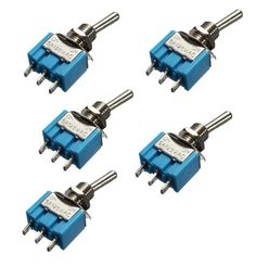 5PCS Mini 6A 125VAC SPDT MTS-102 3 Pin 2 Position On-on Toggle Switches Practic #electronicsprojects #electronicsdiy #electronicsgadgets #electronicsdisplay #electronicscircuit #electronicsengineering #electronicsdesign #electronicsorganization #electronicsworkbench #electronicsfor men #electronicshacks #electronicaelectronics #electronicsworkshop #appleelectronics #coolelectronics