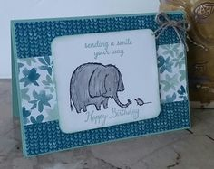 Stampin' Up! Demonstrator stampwithpeg – Blooms & Bliss, Love you lots! This is just the cutest elephant ever, after sharing a