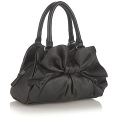 Black bow small grab bag ($21) ❤ liked on Polyvore featuring bags, handbags, purses, handbags purses, faux leather purse, vegan handbags, top handle handbags and zipper purse