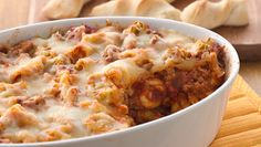 Cheesy Baked Tortellini - An easy one dish meal with foods everyone will love.
