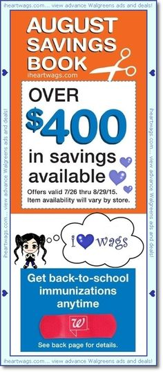 walgreens august coupon book!  view it here:  http://www.iheartwags.com/2015/07/august-2015-coupon-book-0726-0829.html