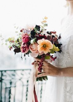 Wedding Morning in Paris Deep and colorful flowers for the bridal bouquet.Deep and colorful flowers for the bridal bouquet. Bridal Flowers, Colorful Flowers, Beautiful Flowers, Diy Flowers, Bouquet Bride, Wedding Bouquets, Boquet, Wedding Dresses, Bridesmaid Bouquet