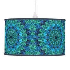 Ocean mandala pattern pendant lamp