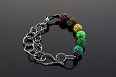 "Knot-Links Bracelet ""Atomic"" by Lisa Gastelum"