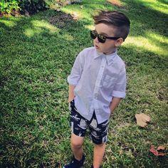 Little boy rocking a pompadour!!! #acconciaturesalonandspa www.aledosalonandspa.com 817-441-1911