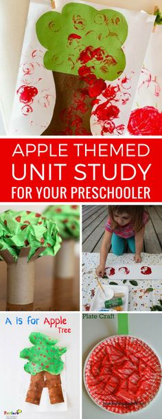 So many apple activities for preschoolers in this list - that's our Tot School curriculum sorted for a week or two! Thanks for sharing! Apple Activities, Activities For Boys, Preschool Activities, Toddler Preschool, Toddler Crafts, Crafts For Kids, Diy Crafts, Tissue Paper Trees, Apple Unit