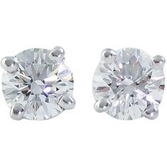 Pre-owned Tiffany & Co. .71 Carats Diamond Platinum Stud Earrings ($3,200) ❤ liked on Polyvore featuring jewelry, earrings, accessories, joias, studs, stud earrings, platinum diamond earrings, stud earring set, pre owned jewelry and platinum earrings