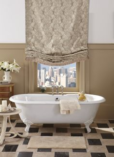 Best Fabric Roman Shades Images On Pinterest Blinds Shades And - Roman shades for bathroom window
