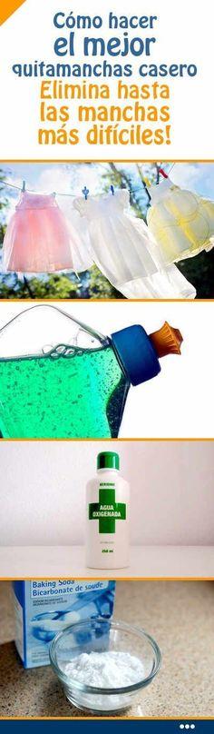 Cómo hacer el mejor #quitamanchas #casero. Elimina hasta las #manchas más #difíciles! #eliminar #laver #ropa