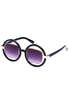 #romwe Splicing Hollow Round Glasses, The Latest Street Fashion