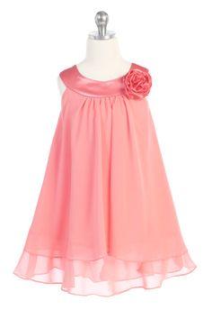 6da475eba6f8 59 Best Coral Flower Girl Dresses images | Coral flower girl dresses ...