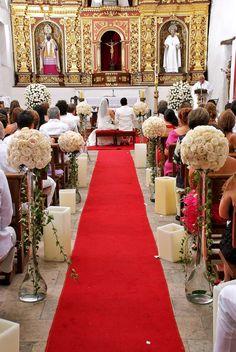 decoracion altar de iglesia para matrimonio - Buscar con Google
