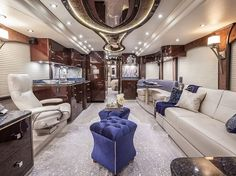 Move over, hotels—RVs are the next big thing in luxurious, amenity-laden travel. Here are seven of our favorites, and where you should take them for a test ride. Interior Motorhome, Trailer Interior, Rv Interior, Interior Design, Luxury Interior, Modern Interior, Design Design, House Design, Luxury Rv