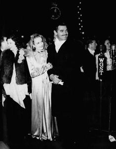 """Clark Gable and Carole Lombard attending the Atlanta premiere of """"Gone With the Wind (1939)."""