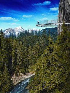 Observation Dock of Capilano Suspension Bridge, British Columbia Canada
