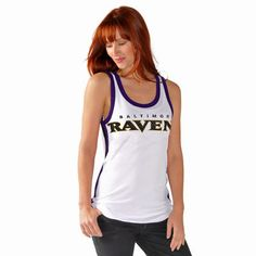 Women's Baltimore Ravens G-III 4Her by Carl Banks White Countdown Mesh Tank Top