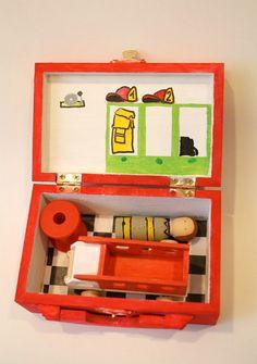 Peg doll Firefighter playbox