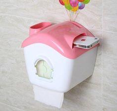 House Shaped Waterproof Toilet Paper Holder, Cell Phone Holder - FeelGift